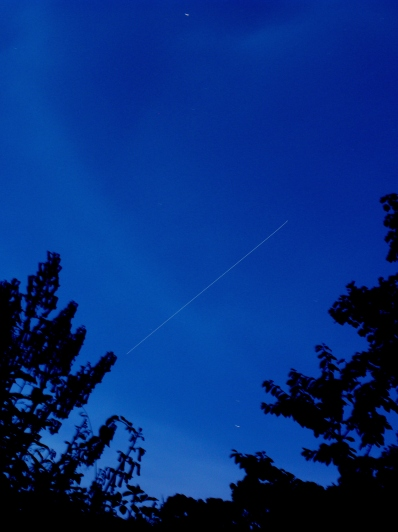 My first capture of the ISS