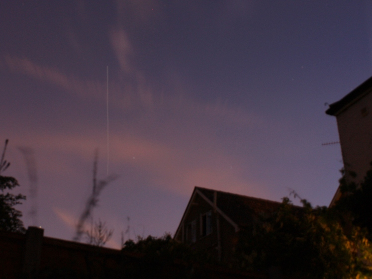ISS appears in the West