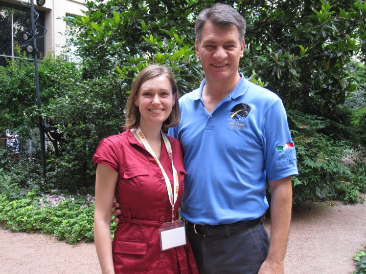 Kate Arkless Gray and astronaut Paolo Nespoli