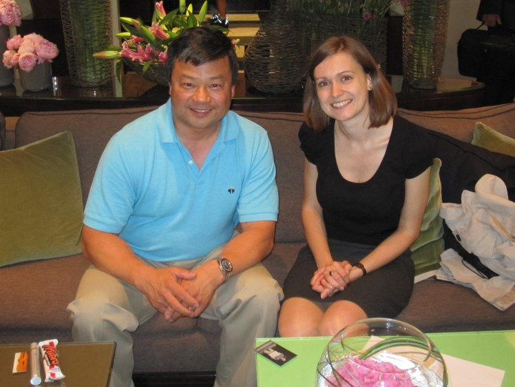 Leroy Chiao and Kate Arkless Gray