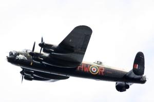 Lancaster flying over Bletchley Park