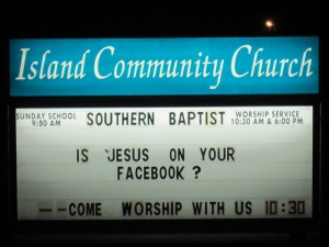 Is Jesus on your Facebook?