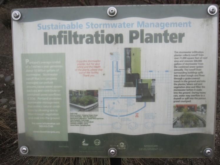 Infiltration planter