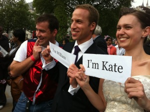 Jolly American, Prince William look-a-like, and me.