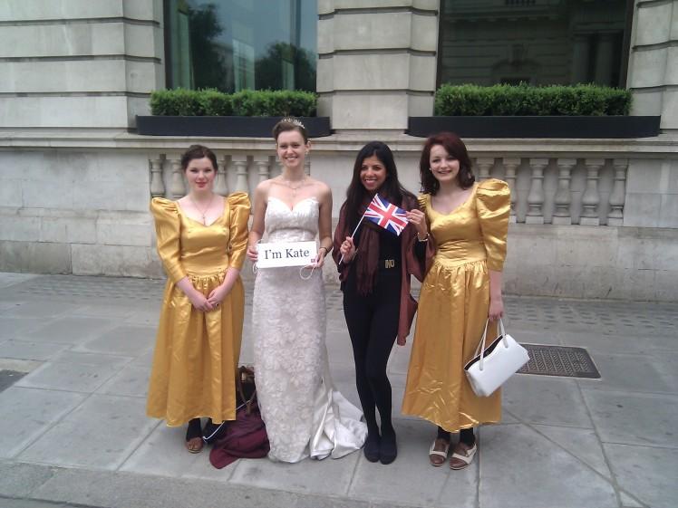 Rose and Martha, my temporary bridesmaids