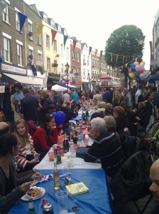 Street party at Battersea High Street
